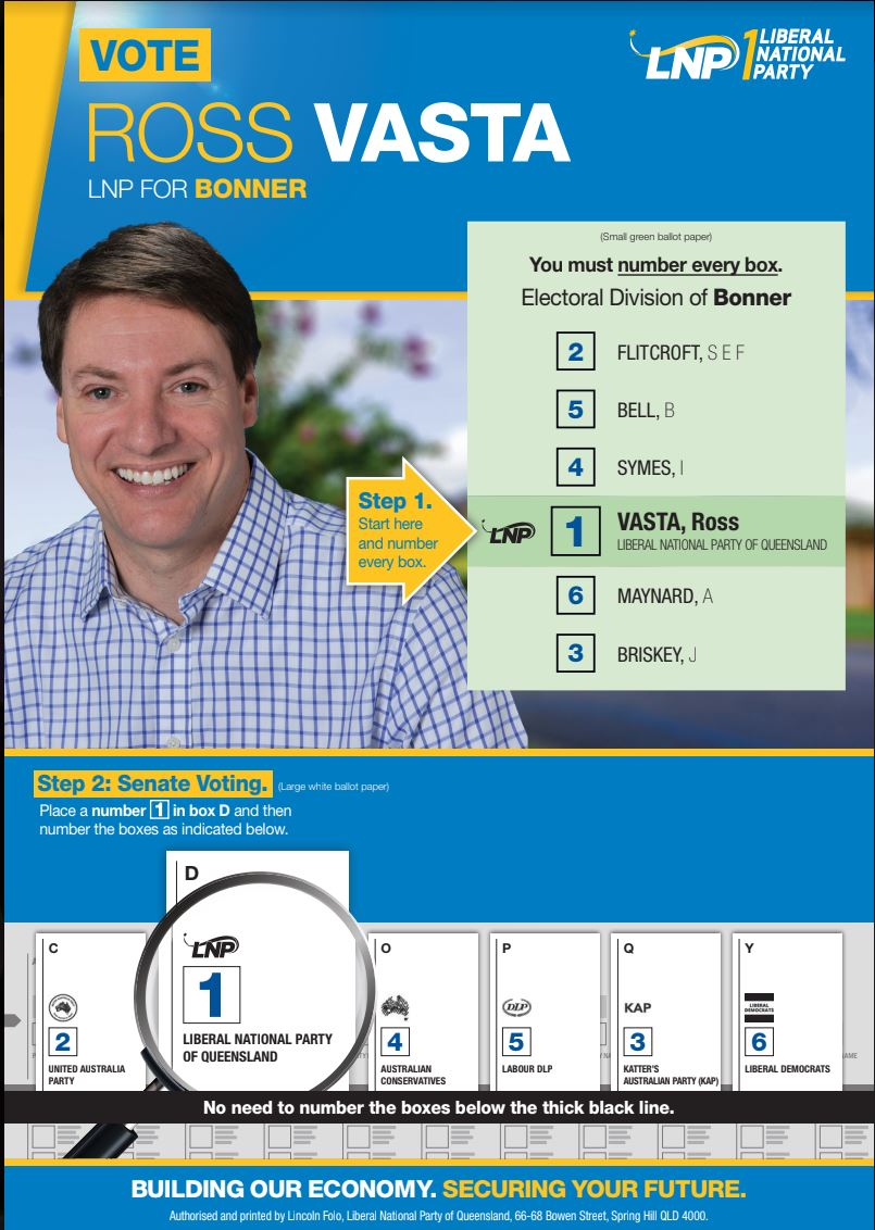 How to vote - Ross Vasta